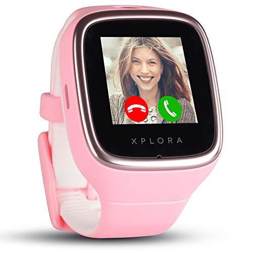 XPLORA 3S - Wasserdichte Telefonuhr für Kinder (SIM-Free) - Anrufe, Nachrichten, Schulmodus, SOS-Funktion, GPS-Ortung und Kamera - Beinhaltet 2 Jahr Garantie (ROSA)