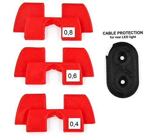 Hochwertiger Druck 3D Gummi Vibration Dämpfer LED Schutz Modifikation Teile für Xiaomi Mijia M365 M187 Elektro Scooter, rot