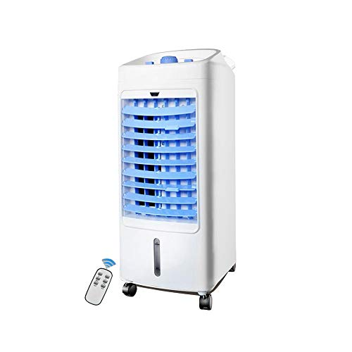 XIAOYAN Mobiler Klimaanlagenlüfter Mobiler Luftkühler Leiser Multifunktionsbetrieb mit 4 l Wassertank - 75 W [Energieklasse A +] (Color : Blue-002)