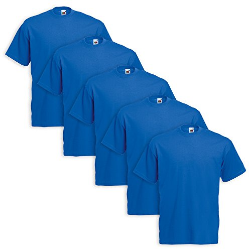 5er Pack T-Shirt Valueweight T - Farbe: Royal - Größe: S (Royal S/s T-shirt)