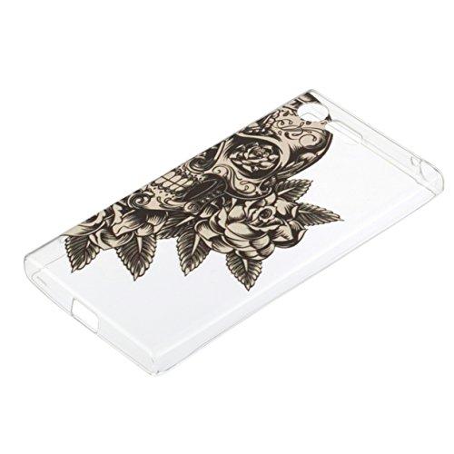 WYSTORE pour Sony Xperia X Compact Vogue Gel Housse étui de téléphone mobile ,TPU Silicone Matériau Transparente Ultra Mince Supérieur Semi Transparent Doux Coque pour Sony Xperia X Compact - A03 A07
