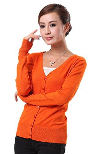 mooncolour-womens-new-arrival-24-colors-knit-outwear-autumn-cardigan-sweater-orange-uk12