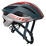 Scott Arx Plus 2019 - Casco para Bicicleta de Carreras, Color Azul y Rojo, S (51-55cm)