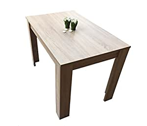 esstisch esszimmertisch k chentisch 110 x 70 cm sonoma eiche tisch k che haushalt. Black Bedroom Furniture Sets. Home Design Ideas