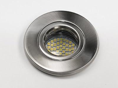 230V Einbaustrahler | Einbauspot Ultra-SMD-LED für Bad, Dusche & Aussenbereich, inkl. 3W LED-Leuchtmittel | Markenware | IP54 | Metall gebürstet