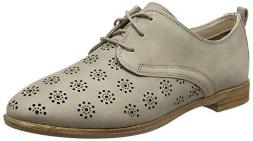 Clarks Damen Alania Posey Derby, Beige (Sand Nubuck), 39 EU (Leder Beige Schuhe)