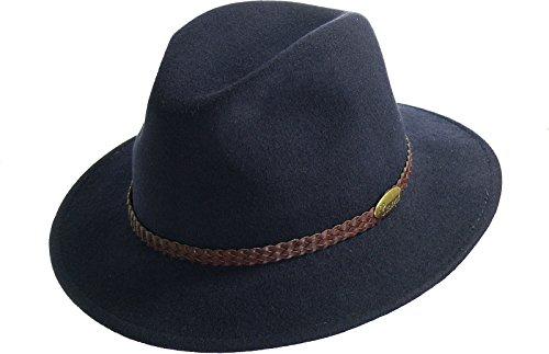rollbarer Hut in 3 Farben, Kopfgroesse: 58, Marine (Mode Für Herren Breite Krempe)