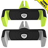 #9: Tukzer TZ-AC-102-BKGR-BKGY Universal Air Vent Car Mount Mobile Holder (Set of 2, Multicolor)