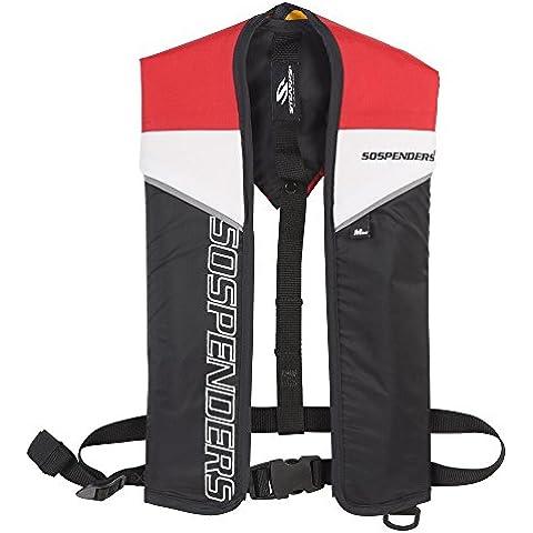 Stearns - Bretelle Manuale gonfiabile giubbotto di salvataggio, Rosso