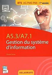 A5.3 a7.1 gestion du système d'information : BTS AG PME/PMI