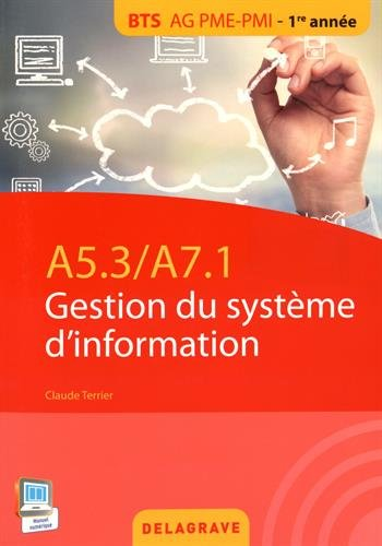 A5.3/A7.1 Gestion du système d'information BTS AG PME-PMI 1re année