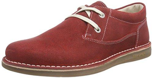 Birkenstock Memphis Kinder, Scarpe Derby con lacci Ragazza, Rosso (Rosso (rosso)), 35