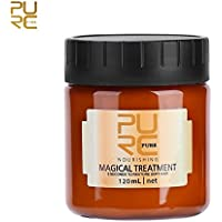 Profesión Mascarilla para el cabello, 120ml Mascarilla mágica para el cabello Tratamiento nutritivo Suave y suave Reparación Daño Profesional