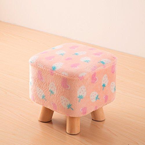 Dana Carrie Bois massif sur un tabouret bas pour des chaussures est à la mode de porter des chaussures qui partie créative tissus chaise fauteuil tabouret table basse banc de la maison, rose clair bas coeur fraise