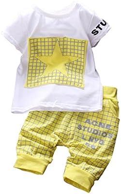 Wangsaura - Conjunto deportivo de dos piezas para bebé, pantalón corto y camiseta