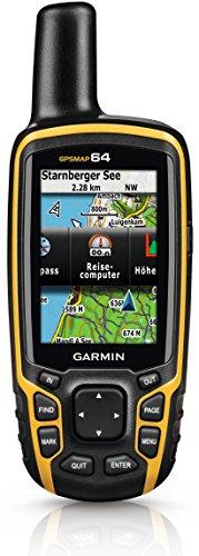 "Garmin GPSMAP 64 GPS Portatile Impermeabile, Schermo Colori 2,6"", MicroSD, Giallo/Nero"