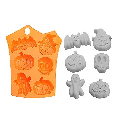 Silikonform Kürbis Totenkopf Happy Halloween Kuchen Werkzeug Kuchen Form Kreativ Backgeschirr Halloween Dekoration