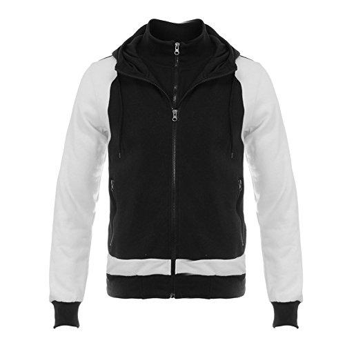 AIRAVATA Uomo Giacca Sottile Vestibilità Slim Maglione Abbigliamento Sportivo Solido Colore Felpa Con Cappuccio