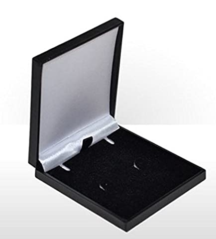 Slimline Luxury Leatherette/Satin Jewellery Box (Necklace, Earrings, Pendant) Economical to Post (Black)