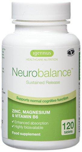 Neurobalance ZMA – zinco-metionina, magnesio e vitamina B6 – integratore per il supporto della funzione cerebrale e delle prestazioni mentali, 120 compresse
