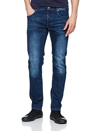 G-STAR RAW Herren Jeans 3301 Slim - Amazon Exclusive Style Blau (Medium Aged 071)