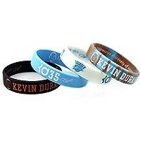 Lorh's store NBA Basketball Kevin Durant Porträt Armband Nummer 35 Silikon Inspirierende Wort Sport Schweißbänder 4 Pcs