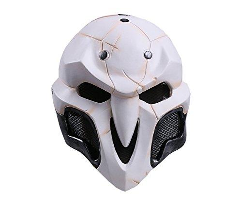 Maske für Erwachsene Tod Karneval Saw Fasching Maske Kostüme Geist (Weiß)