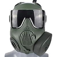 WTZWY Airsoft Tactical Full Face Mask - Gafas de protección Ocular Máscara Calavera con Ventiladores Doble Filtro Correa Ajustable para BB Gun CS Juego Disfraz de Cosplay Halloween,Od