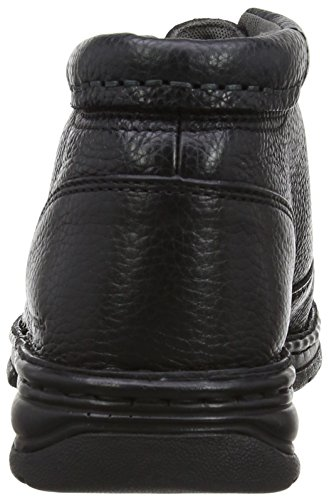 Hush Puppies Nash Theron, Stivali uomo Nero (Noir (Black Leather))