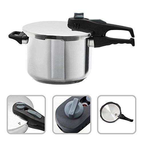 Todeco - pentola a pressione, cucinare con pentola a pressione - capacità: 6 l - materiale: maniglia in bachelite - 6 litri