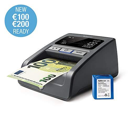 Safescan 155-SX - Verificatore banconote false con batteria ricaricabile incluso - Adatto per le nuove banconote da €100 e €200