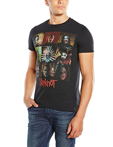 Slipknot Herren T-Shirt Blocks Schwarz (Black)