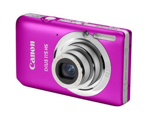 Canon IXUS 115 HS Digitalkamera (12 Megapixel, 4-fach opt. Zoom, 7,6 cm (3 Zoll) Display, Full HD, bildstabilisiert) pink