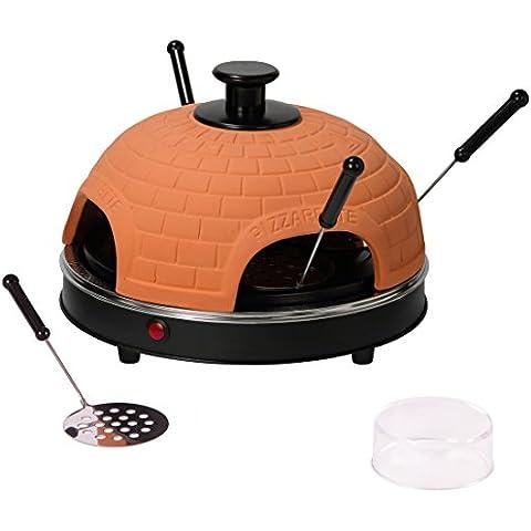 Ultratec 331400000442 Pizzarette, Forno da Pizza con Piastra in Metallo, per 4 Persone