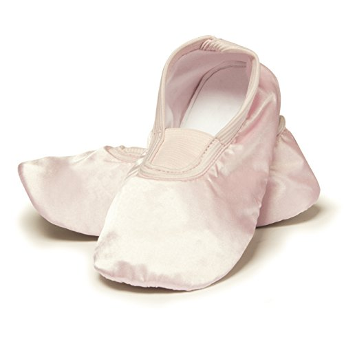 Bild von Kinder Gymnastikschuhe Tanzschuhe Turnschuhe Slipper Ballettschuhe Ballerina Kinderschuhe Mädchen Schuhe Gummisohle Turnschläppchen rosa glänzend