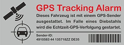 Aufkleber GPS Tracking Alarm 120 x 40 mm ~~~~~ schneller Versand innerhalb 24 Stunden ~~~~~