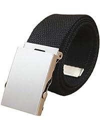 126e88cbbc62 Conception exquise luxe pratique hommes mens militaire toile toile sangle  taille confortable ceinture boucle…