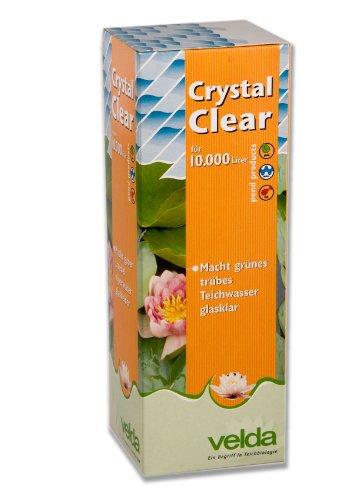 Velda 120034 Wasseraufbereiter gegen Grünes Wasser für 10.000 l Teichvolumen, Crystal Clear 1000 ml