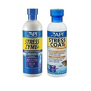 Aquarium Fish Tank Water Treatment & Conditioner Stress Zyme & Stress Coat 237mL