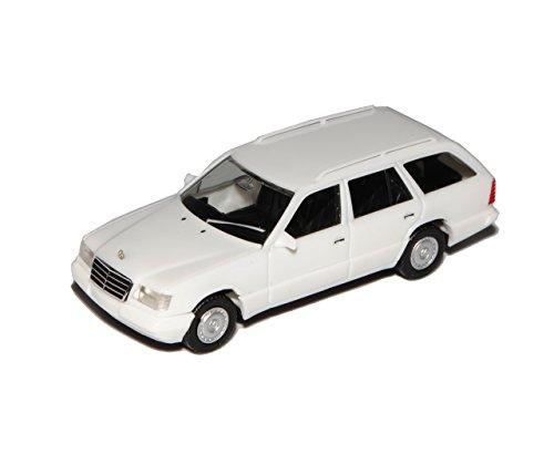 Preisvergleich Produktbild Mercedes-Benz E-Klasse W124 E320 T-Modell Kombi Weiss 1984-1997 H0 1/87 Herpa Modell Auto mit individiuellem Wunschkennzeichen