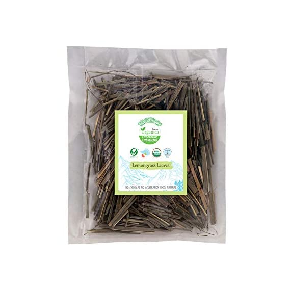 Arena Organica Natural Organic Lemongrass Leaves Patta Pack of 4 15gm Each