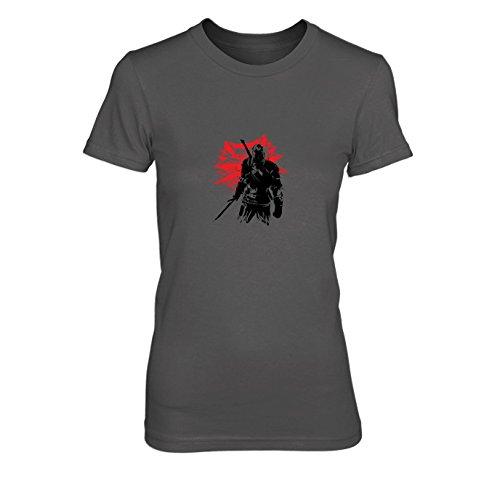 Geralt - Damen T-Shirt, Größe: L, Farbe: grau