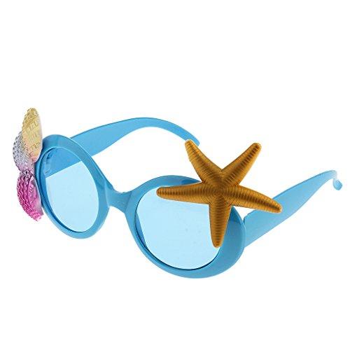 Imagen de magideal tropical gafas de sol estrella de mar accesorio de disfraz para playa hawaiano