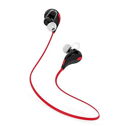 SMARTEX   Auriculares Bluetooth 4.1 Rojo, Auriculares Wireless con microfono para Deporte y Compatible con iPhone, iPad, LG G2, Samsung, Huawei etc.