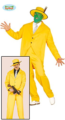 gelber Gangster Anzug für Herren Gr. M/L, Größe:L (Herren Gangster Anzug)