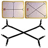 ABREOME Verstellbare Elastische Triangle Bettlaken Matratzenhalter Clips, Bettlakenspanner Fastener mit Metallklammern für Bettlaken Tischdecken Decken Tuch Matratzen Spanner(2 Stück-Schwarze Farbe)