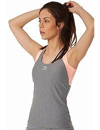 Naffta F227 Camiseta Tirantes, Mujer, Gris Medio/soufflé, ...