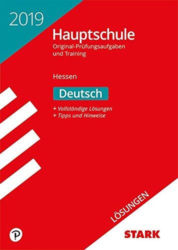 Lösungen zu Original-Prüfungen und Training Hauptschule - Deutsch - Hessen