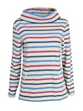 Seasalt ex 8-20 Boslowick Off White Pink Blue Striped Nautical Sweatshirt 316 (12)