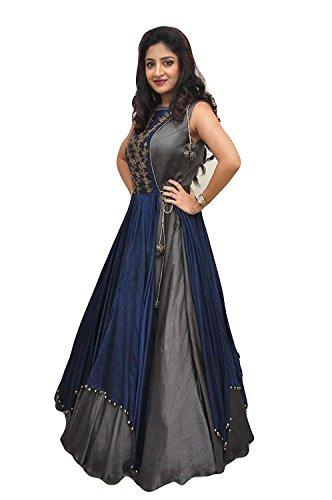 Ecolors Fab Women\'s Dress (T-T_Grey_Grey_Free Size)